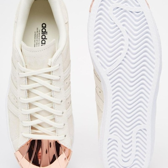 Adidas Superstar With Rose Gold Toe Cap NWT